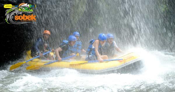 Sobek Rafting Sungai Telaga Waja