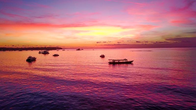 Sunset Pulau Nusa Lembongan Klungkung Bali