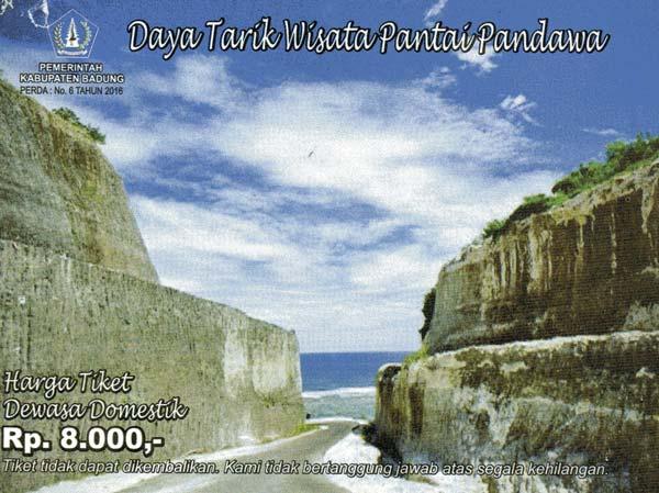 Harga Tiket Masuk Pantai Pandawa Bali 2017