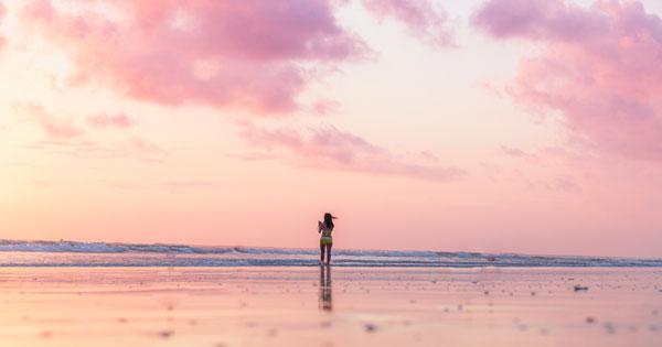 Pantai Kuta Sunset View - 20 tempat wisata untuk dikunjungi Bali