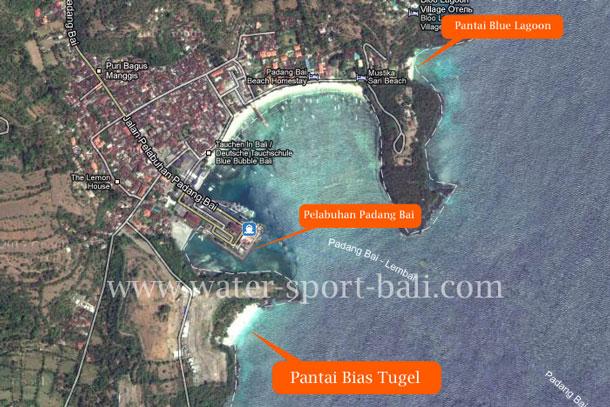 Peta Pantai Bias Tugel Bali