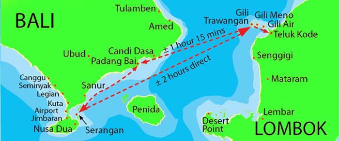 peta pulau gili gili lombok