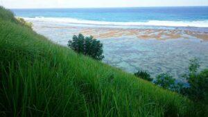 pemandangan dari atas pantai gunung payung Bali