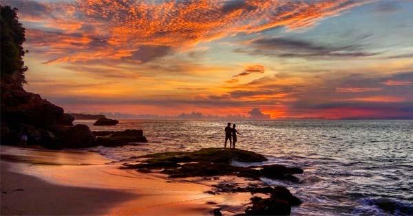 Sunset Pantai Tegal Wangi Jimbaran