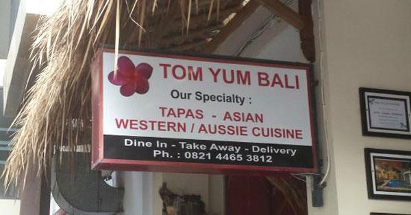 Warung Tom Yums Kuta Bali