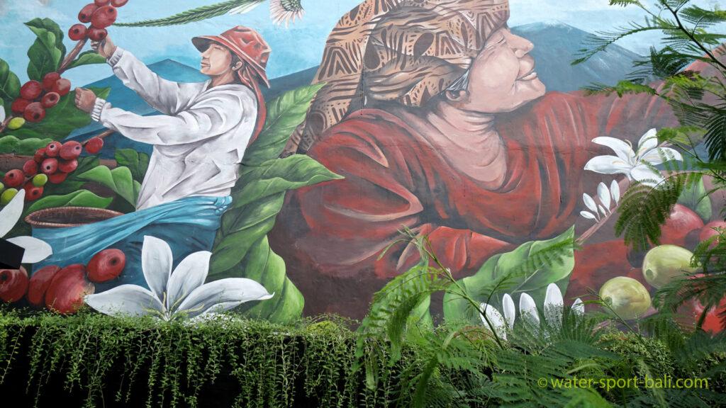 Lukisan Ukuran Besar Di Starbucks Bali