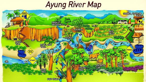 Peta Sobek Rafting Sungai Ayung Ubud